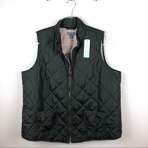 Market & Spruce Stitchfix Wilco Quilted Olive Vest